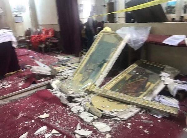 عشرات الضحايا في تفجير كنيسة مار جرجس بطنطا