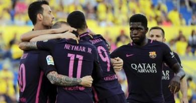 اهداف مباراة برشلونة ولاس بالماس