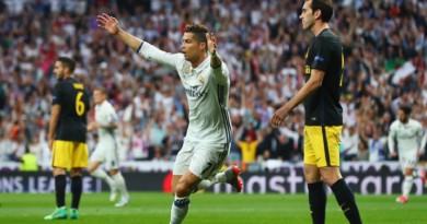 بالفيديو والصور: ريال مدريد يضرب أتلتيكو مدريد بثلاثية ويقترب من نهائي دوري الأبطال