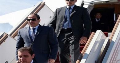 السيسي يصل أبو ظبى فى زيارة رسمية لمدة يومين