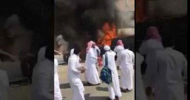السجن والجلد بحق طلاب أحرقوا سيارة مديرهم في السعودية