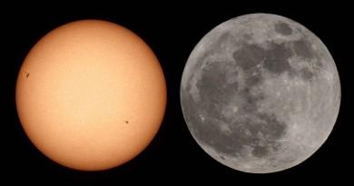 حوار بين الشمس والقمر