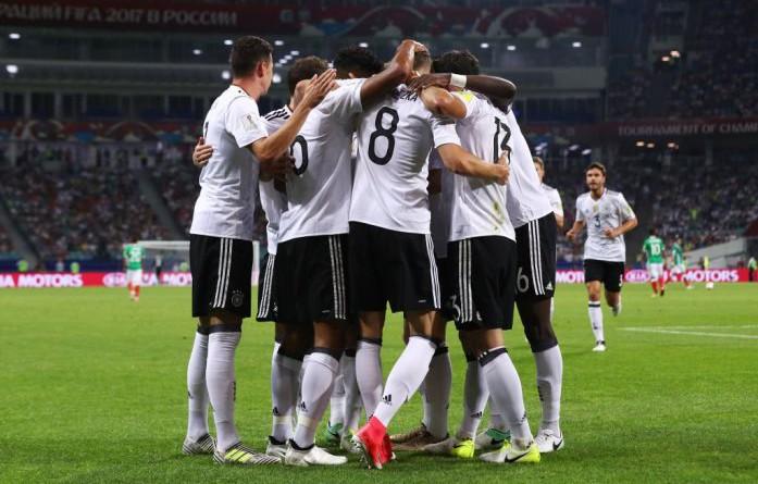 بالفيديو والصور: ألمانيا تواجه تشيلي في نهائي كأس القارات بعد الإطاحة بالمكسيك