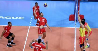 مصر تخسر ثالث مبارياتها أمام الصين في الدوري العالمي