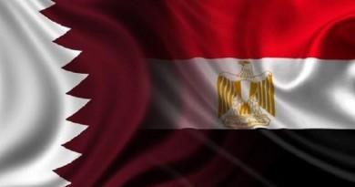 وفد قطري في القاهرة