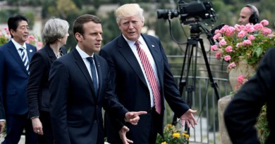 """ماكرون ينتظر زيارة ترامب لمناقشة """"كل القضايا بما في ذلك الخلافات"""""""