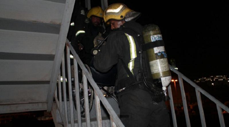 حريق في المدينة المنورة وإجلاء 120 شخصا