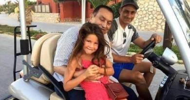 صورة: مبارك يظهر مع عائلته بأحد المنتجعات السياحية