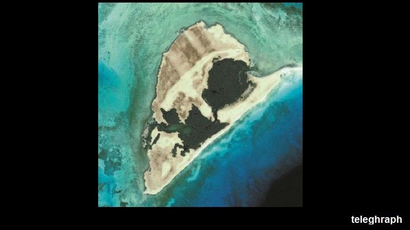 صورة فضائية لجزيرة أبو منقار