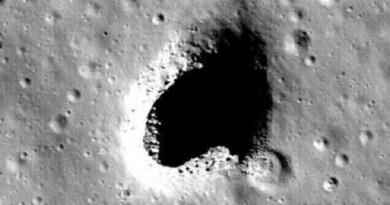 اكتشاف نفق ضخم على سطح القمر