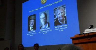 فوز ثلاثة علماء أمريكيين بجائزة نوبل للطب لعام 2017