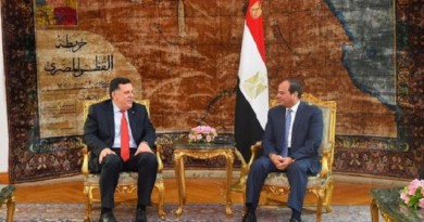 السيسي والسراج يبحثان جهود تسوية الأزمة الليبية من خلال مسار سياسي