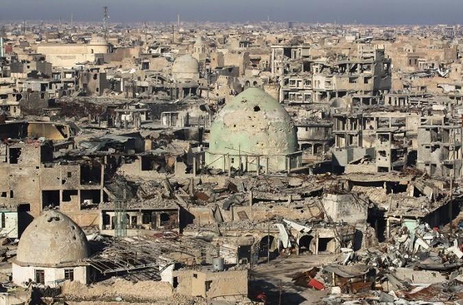في المدينة القديمة المنكوبة بالموصل لا شيء تغير بعد ستة أشهر من طرد الجهاديين