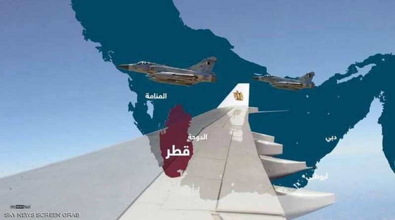 إنفوغرافيك.. قرصنة جوية قطرية في أجواء الخليج