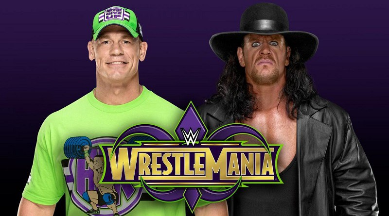 WWE يلمح لإقامة مواجهة كبرى بين أندرتيكر وجون سينا