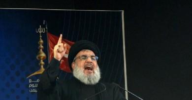 نصر الله: على أمريكا أن تقبل بمطالب لبنان في النزاع مع إسرائيل