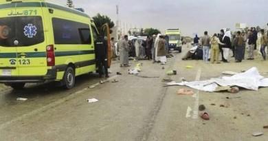 الصحة: مصرع 11 شخصًا جراء حادث تصادم بالمنيا