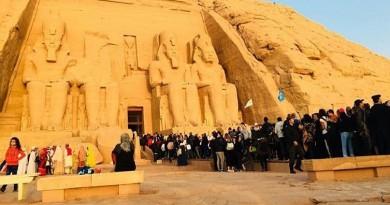 الاحتفال بتعامد الشمس على تمثال رمسيس الثاني بمعبد أبو سمبل