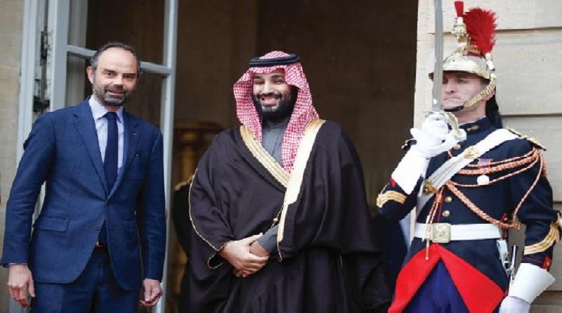 ماكرون يجتمع مع بن سلمان والحريري