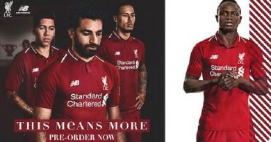 صلاح الوجه الأبرز لإعلان القميص الجديد لليفربول