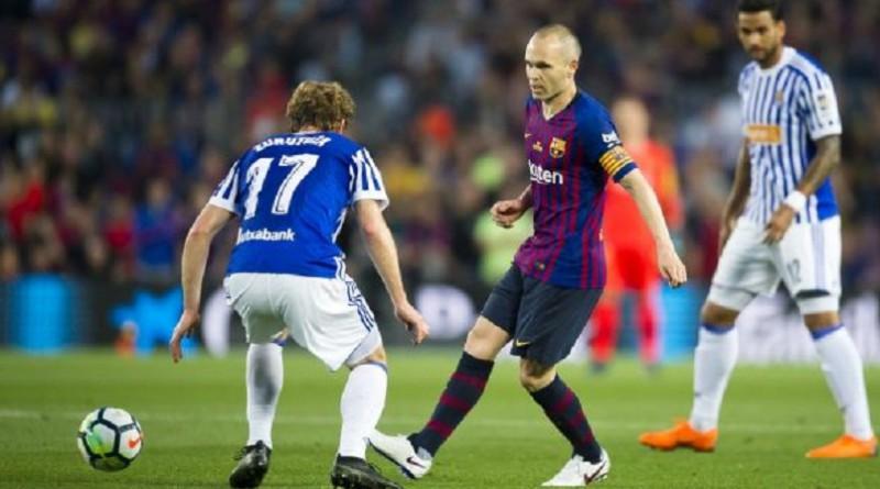 بالفيديو...برشلونة يهزم سوسيداد في مباراة وداع انييستا