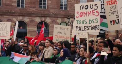 مئات الفرنسيون يتظاهرون ضد المجزرة الإسرائيلية في غزة