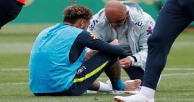 الاصابة تعاود نيمار في تدريبات المنتخب البرازيلي