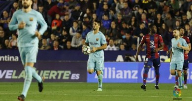 بالفيديو....برشلونة يخسر أمام ليفانتي ويتفادى سقوط تاريخي