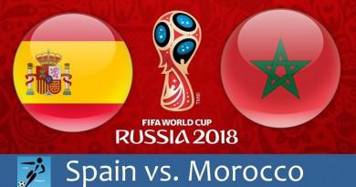 المغرب واسبانيا كأس العالم 2018