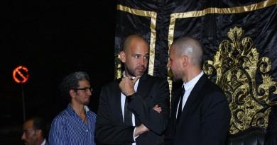 """نجوم الفن بعزاء والد المطرب """"ابو"""" بمسجد عمر مكرم"""