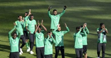 """""""الأخضر"""" يجري مرانه الأول في روسيا استعدادا لمباراة الافتتاح"""