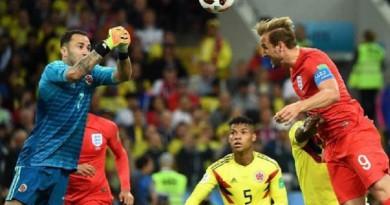 ركلات الترجيح تمنح إنجلترا بطاقة التأهل على حساب كولومبيا