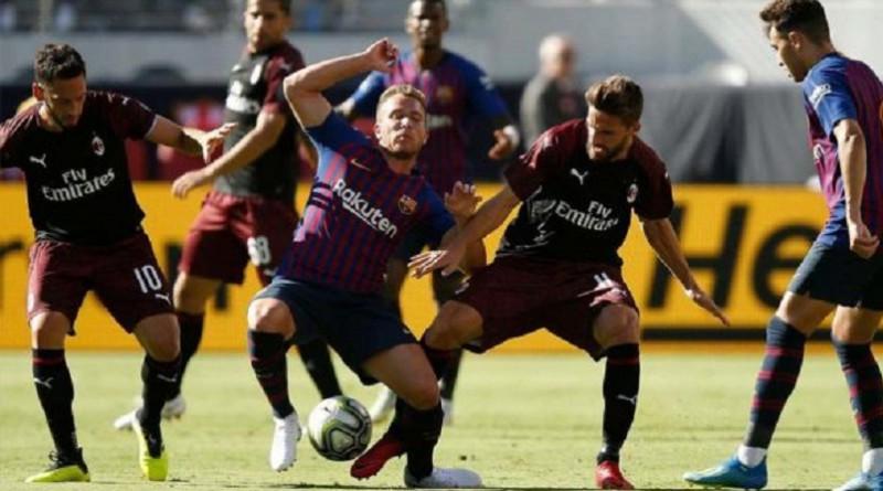 ميلان يهزم برشلونة في كأس الأبطال