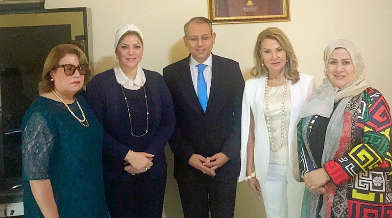 العبسي تشيد بالسفير المصري في لبنان وتؤكد: هدفنا مصلحة المرأة العربية