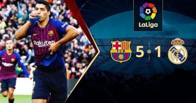 ملخص مباراة برشلونة وريال مدريد