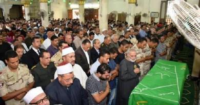 الشرقية تشيع جثمان شهيد الكتيبة 20 ضحية العملية الإرهابية في سيناء