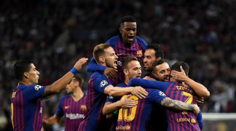 برشلونة يحقق فوز مثير على مضيفه توتنهام بدوري الأبطال