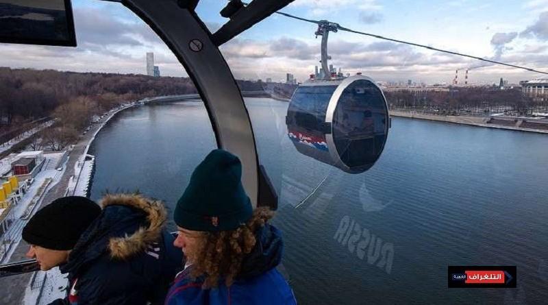 روسيا تفتتح أول تلفريك فى العاصمة