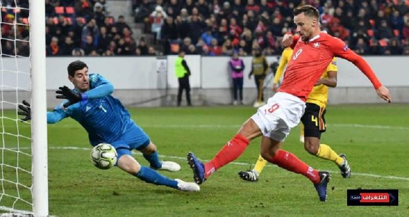 اهداف مباراة سويسرا وبلجيكا
