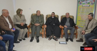وفد قيادي من حركة فتح يقدم التهنئة للطائفة المسيحية بغزة