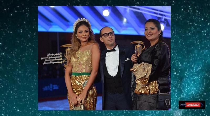 بفستان من الذهب ''غيثة الحمامصي'' تطل على الجمهور بالمهرجان الدولي للفيلم بمراكش