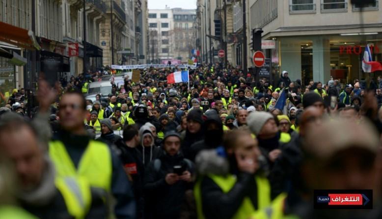 """استمرار احتجاجات """"السترات الصفراء"""" مع دخول العام الجديد"""