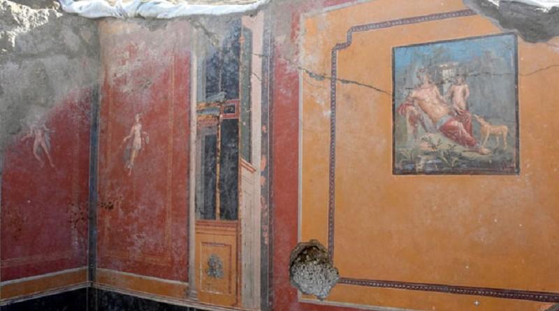 """العثورعلى لوحة """"الصياد الأسطورى"""" لمدينة بومبى الأثرية"""