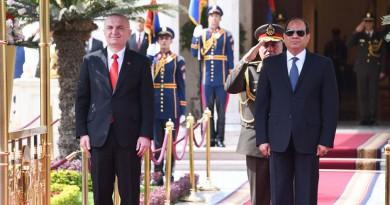 السيسي يستقبل رئيس جمهورية ألبانيا
