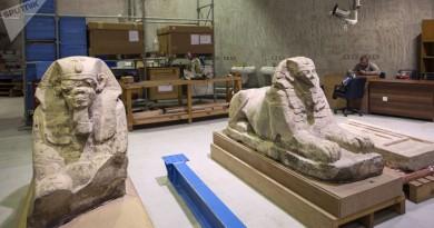 المتحف المصري الكبير يستقبل 249 قطعة أثرية
