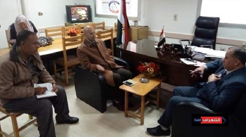 سلامه يلتقى بمسعود وكيل وزارة الصحة بالشرقية