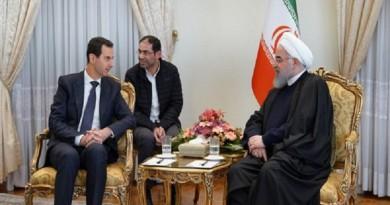 """روحاني لـ""""بشار الأسد"""": سنبقى إلى جانب سوريا كسابق عهدنا"""