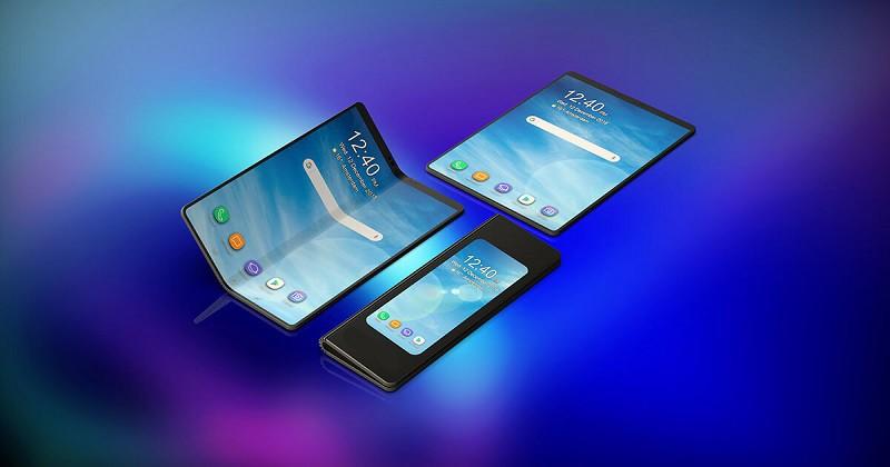 سامسونج تكشف عن هاتف بشاشة قابلة للطي