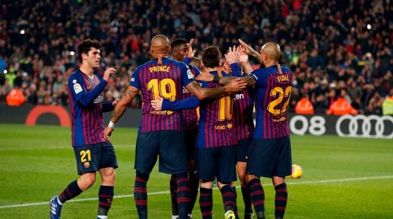 مدربا برشلونة وليون يمدحان ميسي
