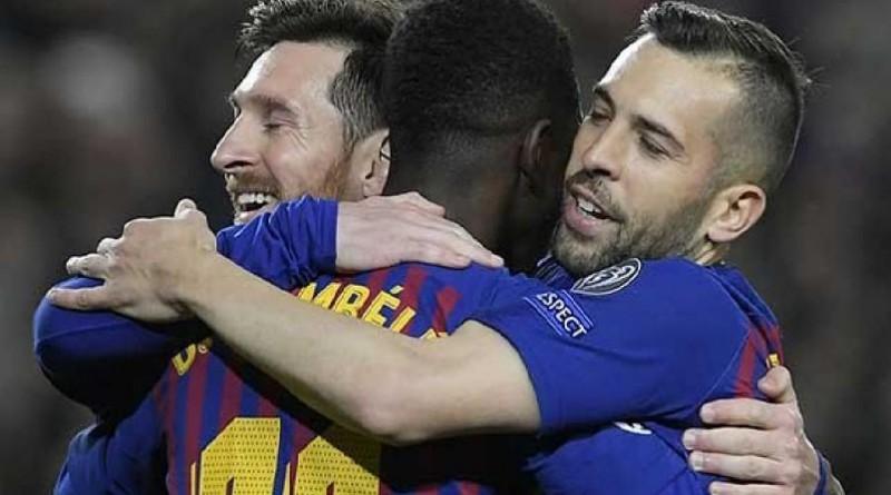 أهداف برشلونة وليون دوري أبطال أوروبا